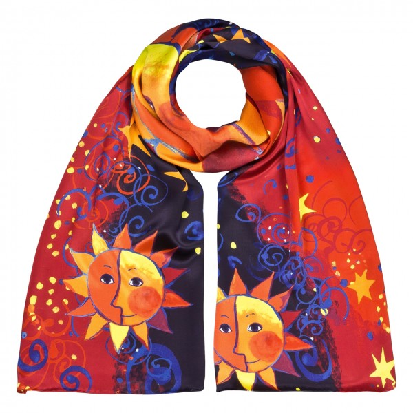 Long Scarf Art Satin Rosina Wachtmeister: Sole