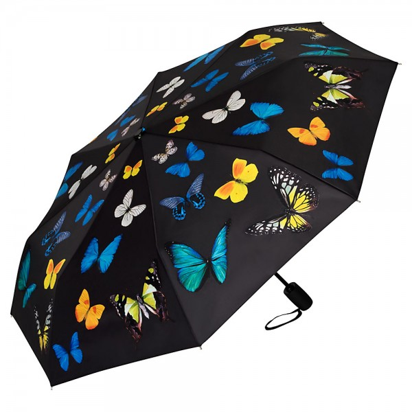Folding pocket umbrella auto-open-close telescopic Butterflies Dance
