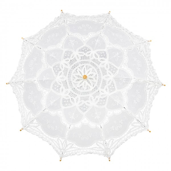"Lace umbrella ""Julie"" white"