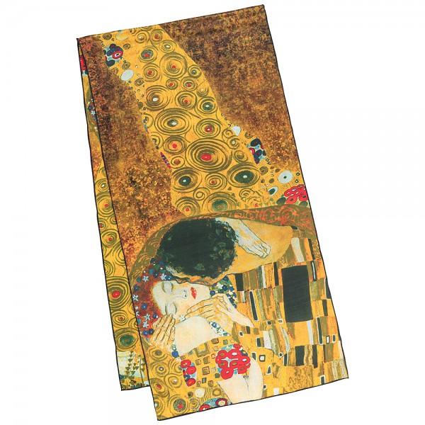Seidenschal Satin lang 172 x 42 cm Gustav Klimt: Der Kuss