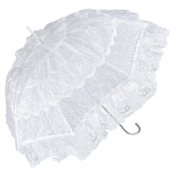 "Bridal umbrella ""Melissa"", white"