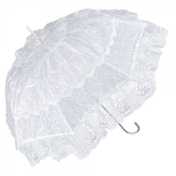 """Regenschirm Sonnenschirm Brautschirm Hochzeitsschirm """"Melissa"""", weiß"""
