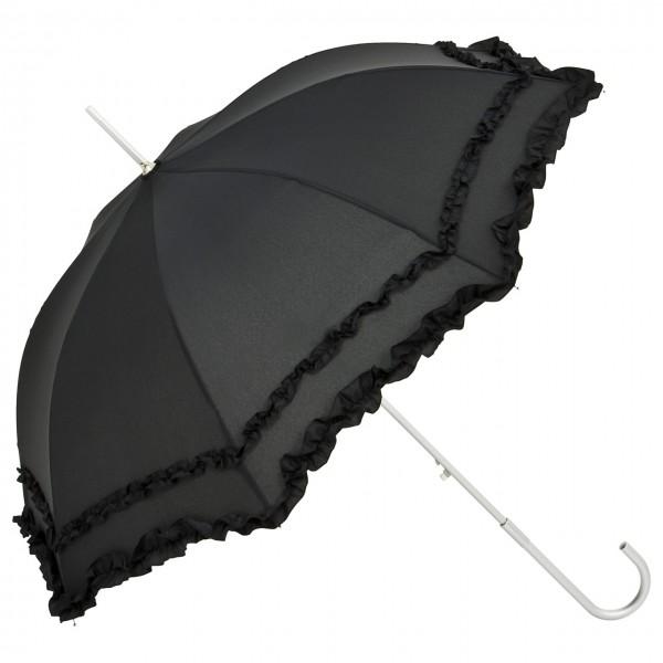 """Regenschirm Sonnenschirm Hochzeitsschirm """"Mary"""", schwarz"""