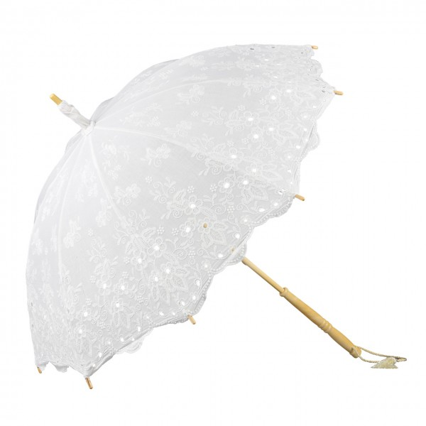 "Lace umbrella ""Isabella"", white"