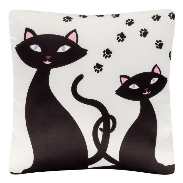 Cushion 40 x 40 Black Cats