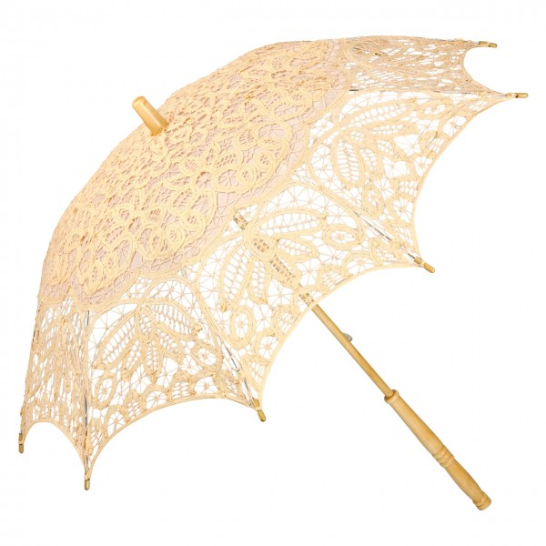 "Lace umbrella ""Vivienne"", light orange"