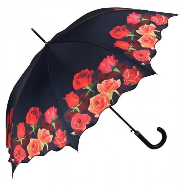 Regenschirm Automatik Rosenbouquet