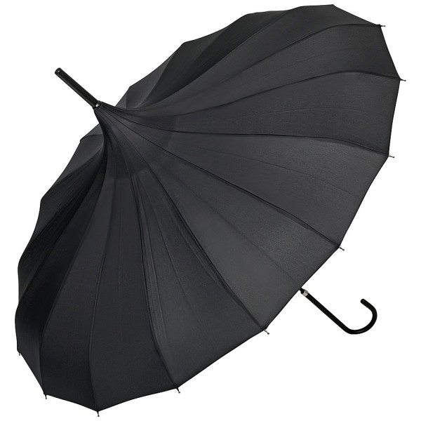 Pagoda umbrella Fabienne, black