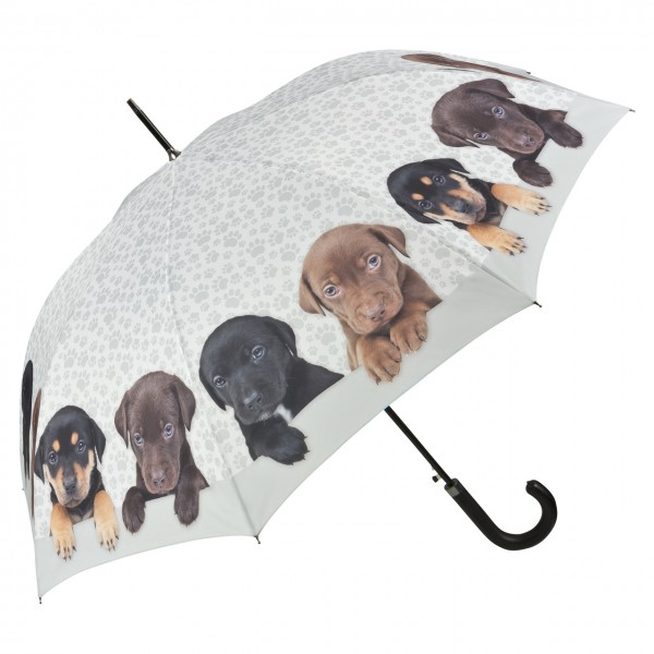 Umbrella Automatic Motif Dog Puppies quartet