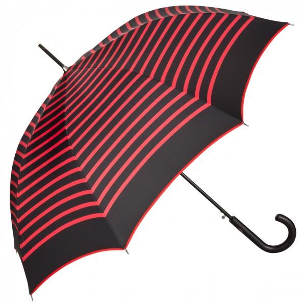 """Jean Paul Gaultier Regenschirm Automatik """"Marius"""", schwarz/rot"""