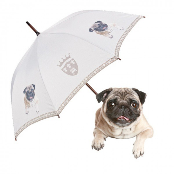 Regenschirm Motiv Hund Automatik Mops