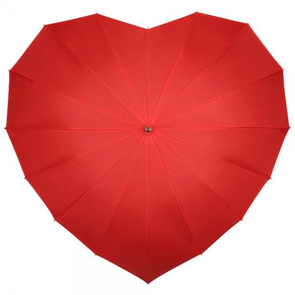 """Regenschirm Sonnenschirm Hochzeitsschirm  """"Herz"""", rot"""