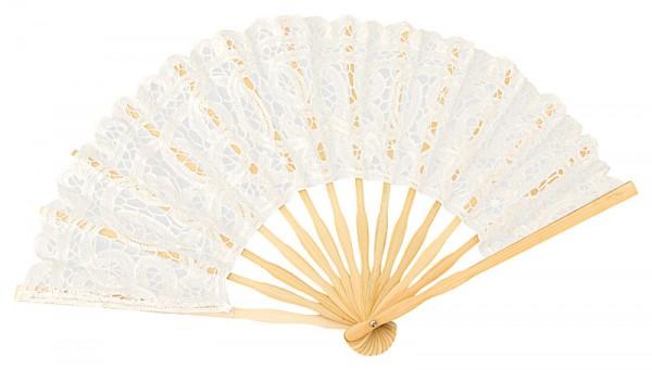 Lace fan Carmen, white