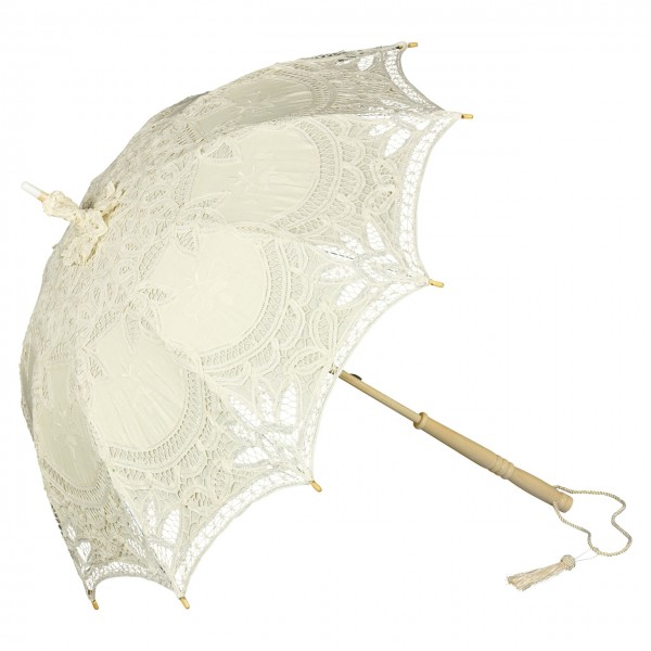 "Lace umbrella ""Marietta"", beige"