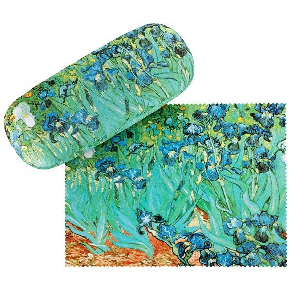 Glasses case with cleaning cloth Art Flowers Vincent van Gogh: Irises