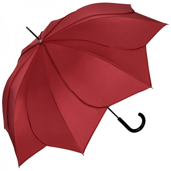 "Automatic Umbrella ""Minou"", burgundy / burgundy stitches"