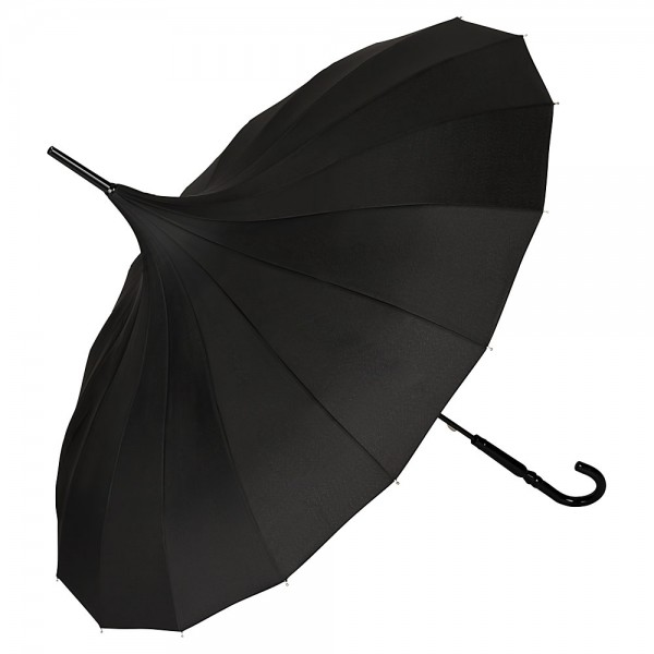 Regenschirm Sonnenschirm Pagode Charlotte, schwarz
