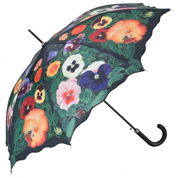 Regenschirm Blumen Motiv Automatik Stiefmütterchen