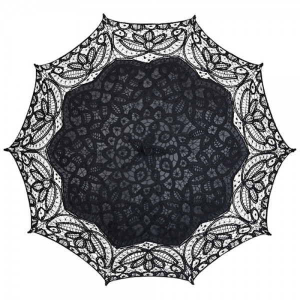 "Lace umbrella ""Vivienne"", black"