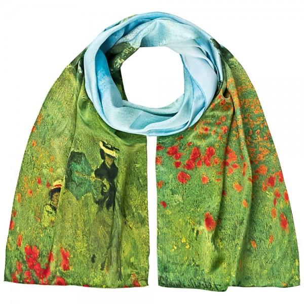 """Seidenschal Claude Monet: """"Mohnblumenfeld"""""""