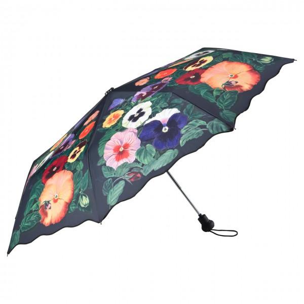 Taschenschirm Motiv Floral Stiefmütterchen