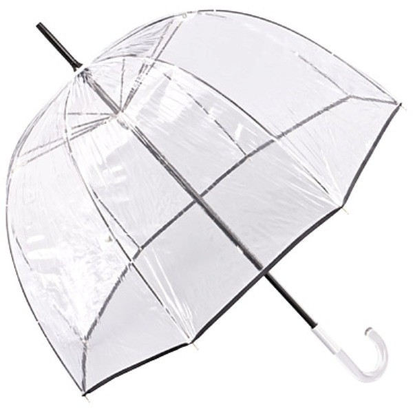 "Design umbrella ""Alexis"", with black piping"
