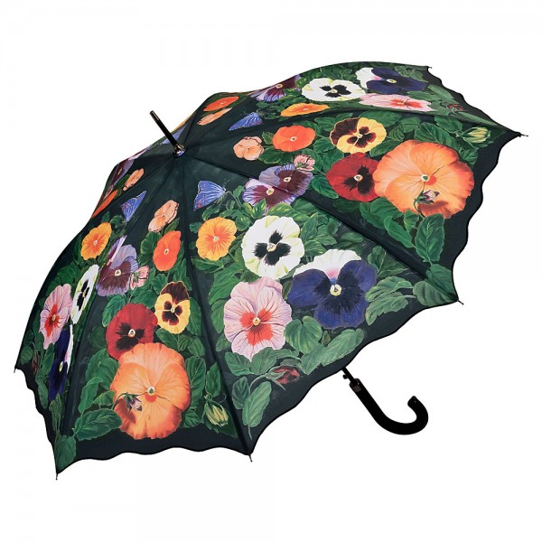 Umbrella Automatic Motif Flowers Pansies