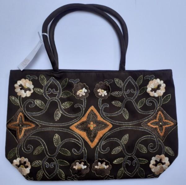 Handbag brown Velor