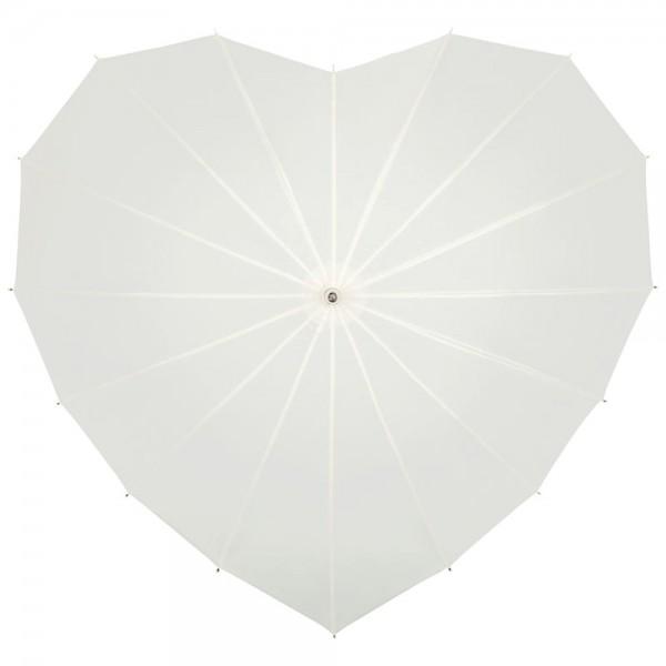 """Regenschirm Sonnenschirm Hochzeitsschirm  """"Herz"""", ecru"""