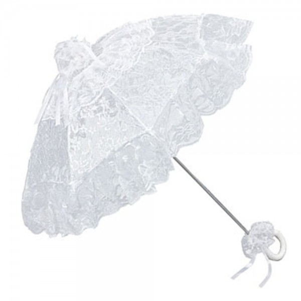 "Bridal umbrella ""Josephiine"", white"