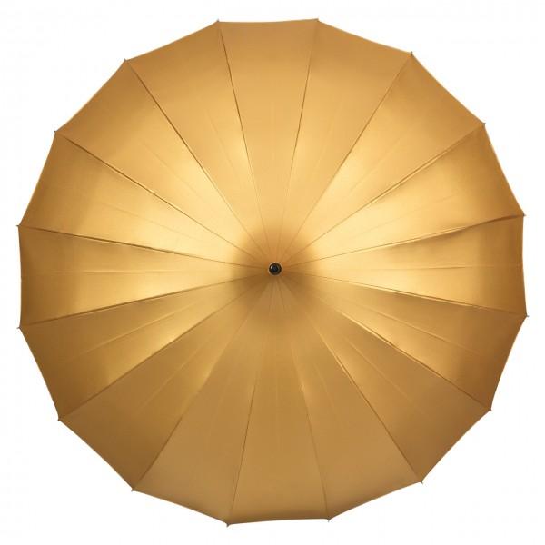 """Regenschirm Sonnenschirm Pagode """"Cécile"""", gold (metallic)"""