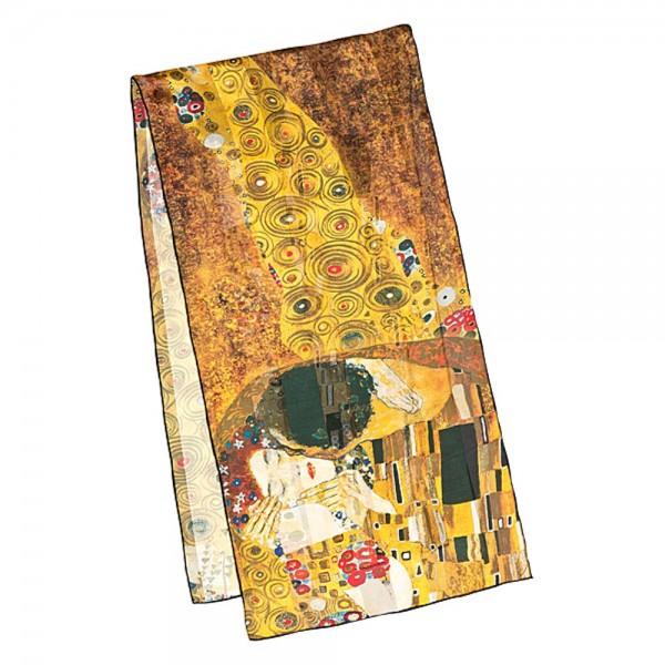 """Seidenschal Gustav Klimt: """"Der Kuss"""""""