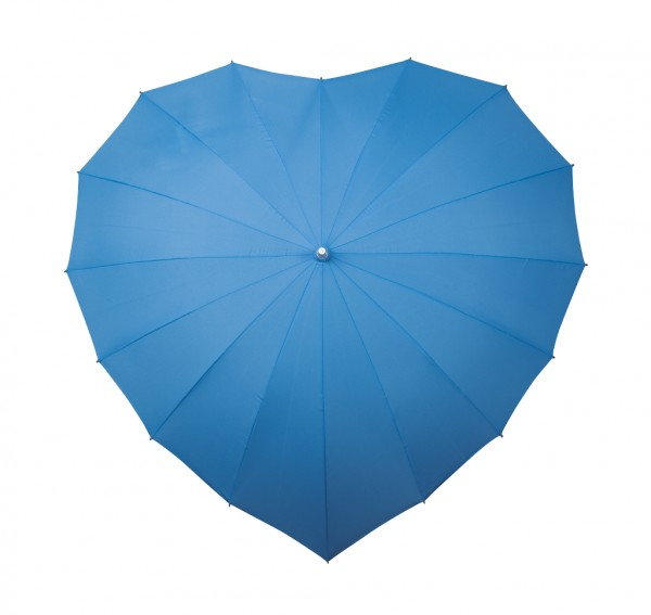 Motive umbrella Heart blue