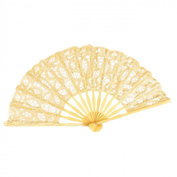 Lace fan Carmen, light orange