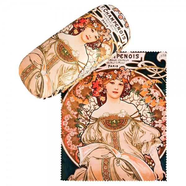 Brillenetui Hardcase Motiv Alfons Mucha: F. Champenois