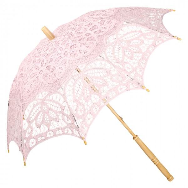 Spitzenschirm Sonnenschirm Brautschirm Hochzeitsschirm Vivienne, pastellrosa