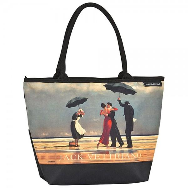 """Tasche Shopper bedruckt mit Motiv Jack Vettriano: """"Singing Butler"""""""