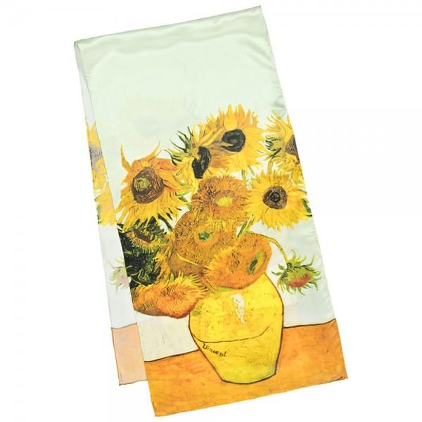 Long Silk Scarf Art Satin Vincent van Gogh: Sunflowers