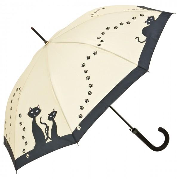 Regenschirm Motiv Automatik Schwarze Katzen