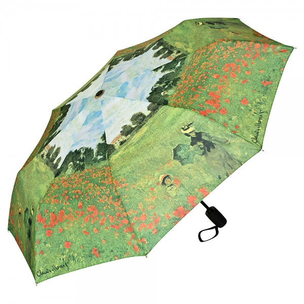 Folding Pocket Umbrella Automatic Telescopic Claude Monet: Field of Poppies