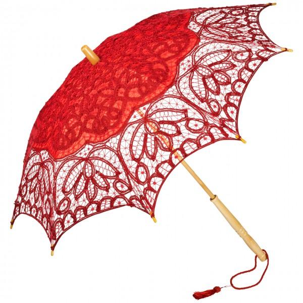Spitzenschirm Sonnenschirm Brautschirm Hochzeitsschirm Vivienne, rot