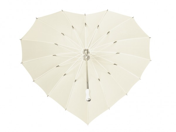 Motive umbrella Heart, ecru