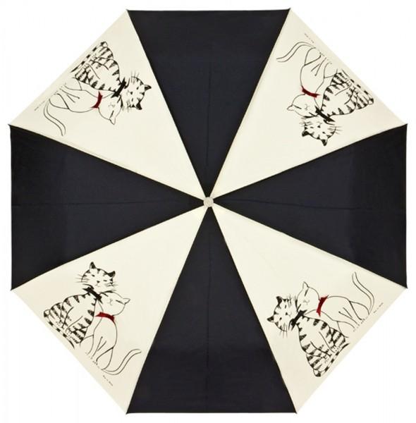 """Design-Schirm (Taschenschirm) """"Minou und Minette"""""""