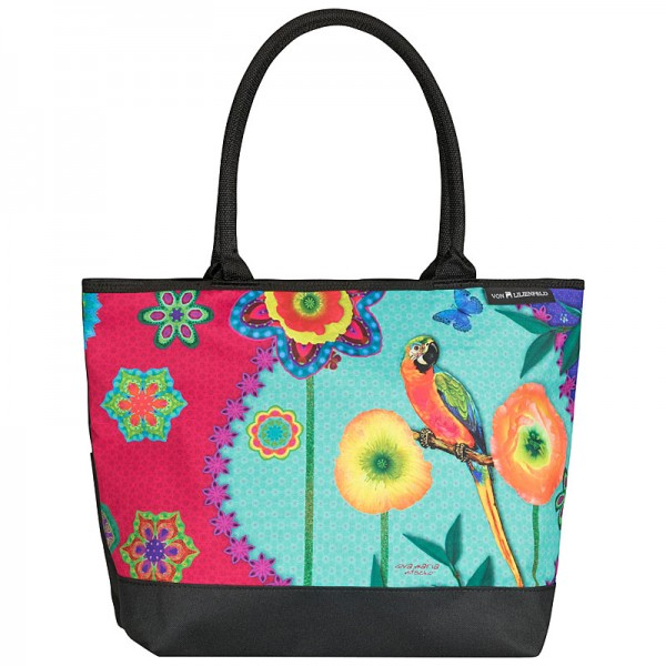 Tote Bag Shopping Eva Maria Nitsche: Parrot in Paradise