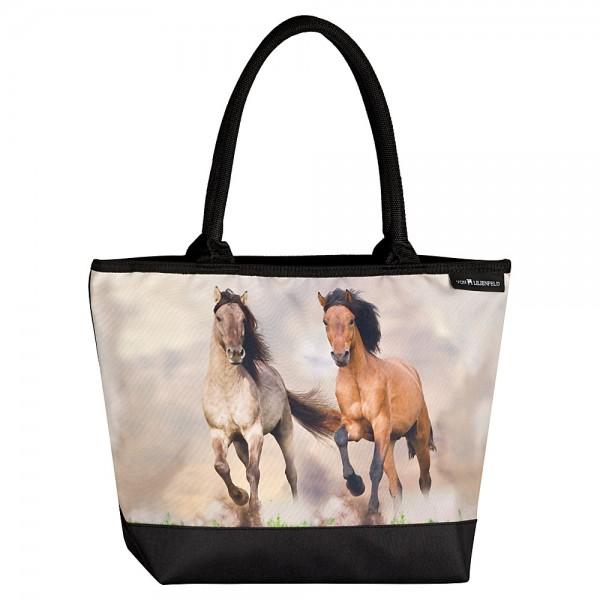 Tasche Shopper bedruckt mit Motiv Wildpferde