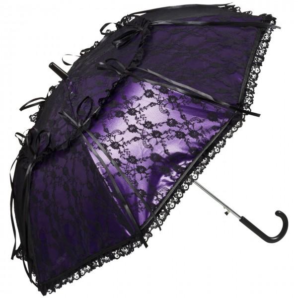 Lace umbrella Luna purple