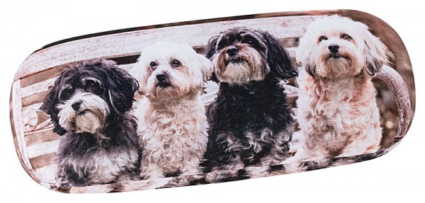 Glasses case with cleaning cloth Dogs Bolonka