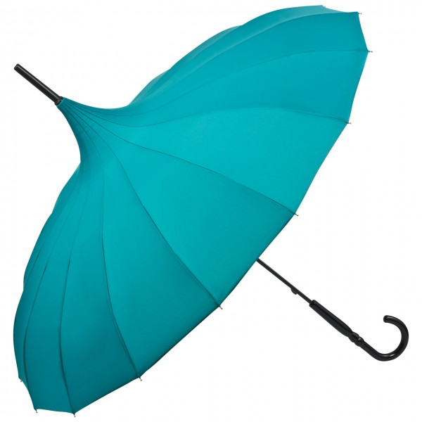 "Regenschirm Pagode ""Cécile"", smaragdgrün"