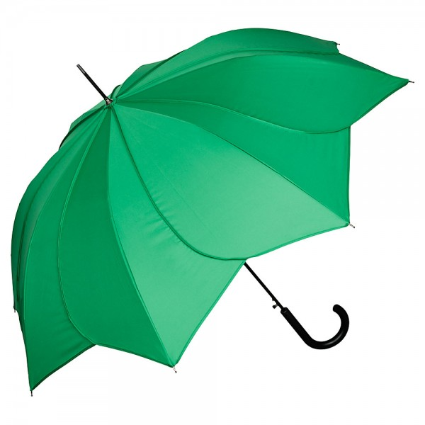 "Automatic Umbrella ""Minou"", green with green stitches"