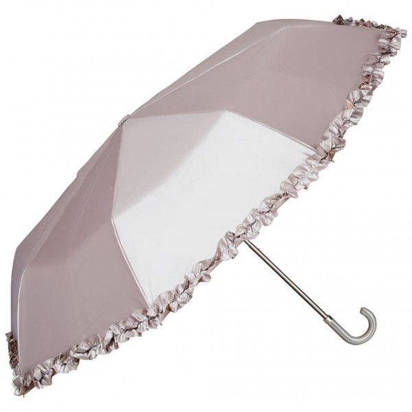 Folding Pocket Umbrella Telescopic Elena silver